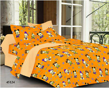 Welhouse Cartoon Design Multi Color  Double Bedsheet&2 Pillow Cover(YTD-082)