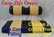 CLUB CAR DS +2000 GOLF CART CUSTOM SEAT COVERS FRONT SEAT STAPLE ON DIY #60 T.S.