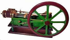 Antique Stationary Horizontal Steam Engine Pump Model