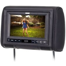 """SAVV 7"""" Wide Headrest Video Monitor with Multimedia Disc & Digital Media Player"""