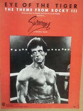 song sheet EYE OF THE TIGER theme from Rocky 3, 1982