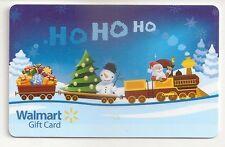 WalMart Christmas Santa Snowman Choo Choo Train Ho Ho Ho 2013 Gift Card FD-36230