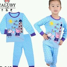 Peppa Pig (Blue) Caluby Long Sleeves Pyjamas 2T-7T