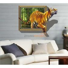 Vivid 3D Tiger Animal Removable PVC Wall Sticker Art Decal Home Room Decor Mural