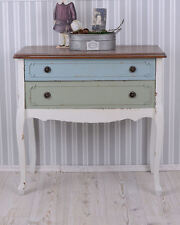 Commode Shabby Chic Table De Chevet Style Antique Secrétaire/commode À Tiroir