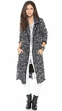 New $228 FREE PEOPLE Last Dance Knitted Sweater Duster Cardigan Size Small