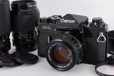 Exc++++ Canon F-1 with New FD 50mm 100mm 70-210mm 3Lens from Japan a094