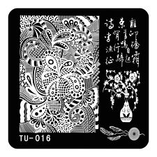HOT Manicure TU Nail Stamping Plate Stainless Steel Nail Art Stamp Template T-16