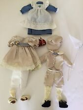 Victorian Boy & Girl Outfits Dress And Accessories 16 Pc. Medium Baby doll