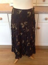 GREAT JIGSAW LONG BROWN FLORAL SKIRT UK SIZE 8 WORN GREAT CONDITON