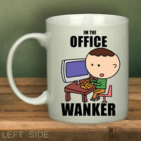 Office Wanker Mug Cup Funny Banter Novelty Work Mugs Personalised Gifts
