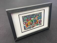 "James RIZZI: Original Farblithographie ""WE NEED MORE BEER"", 3D Vorlage, gerahmt"