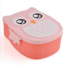 Fashion School Studen Bento Lunch Box W/Spoon Food Container Storage Cute Owl