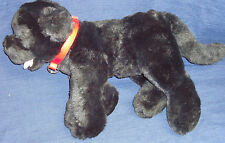 Build A Bear BLACK LABRADOR LAB puppy dog plush w/red collar