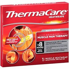 3 Pack ThermaCare Heat Wraps Advanced Muscle Pain Therapy 8 Hours of Relief