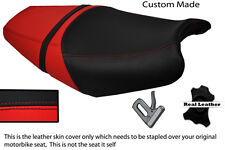 BLACK AND RED CUSTOM FITS KAWASAKI ZZR 1400 ZX14 06-11 DUAL LEATHER SEAT COVER