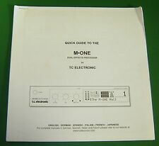 Original T.C. Electronic Quick Guide to the M One Dual Effects Processor