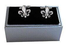 Lilien Manschettenknöpfe silbern glänzend MK0659-si + Silberbox