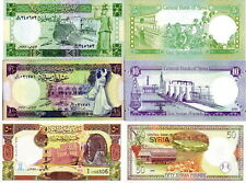 SIRIA - Syria Lot Lotto 3 banconote 5/10/50 pounds 1991-98 FDS - UNC