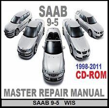 SAAB 9-5 1998 TO 2011 ALL MODELS MASTER WORKSHOP REPAIR MANUAL CD