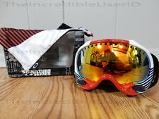 Oakley A Frame Shaun White Block Stripes Red Fire Iridium Goggles RARE Snowboard