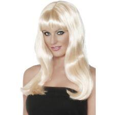 Womens Blonde Mystique Wig Long Straight Fringe Fashion Fancy Dress Beauty Pop