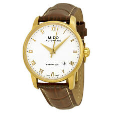 Mido Baroncelli Gold-plated Stainless Steel Mens Watch M8600.3.26.8