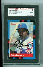 Andre Dawson Autographed 1988 Donruss card #269 SGC Slabbed