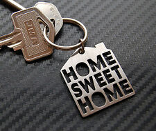 HOME SWEET HOME New House Moving Gift Keyring Keychain Key Bespoke Stainless