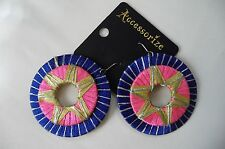COLOURFUL FESTIVAL EARRINGS BY MONSOON ACCESSORIZE BRAND NEW + CARDED rrp £8.00
