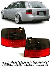 REAR TAIL LED LIGHTS RED-SMOKE FOR AUDI A6 C5 97-04 AVANT LAMPS FANALE