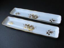 Two (2) Hammersley Golden Glory Bone China Mint/Olive/etc. Trays from England