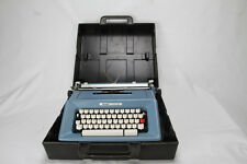 Vintage Olivetti Studio 46 portable Typewriter with Black Case - Made in Spain