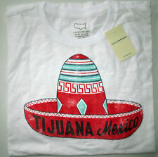NWT LUCKY BRAND Tijuana Sombrero Short Sleeve Graphic Bright White T Shirt Lg