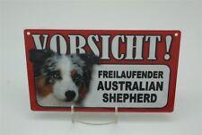 AUSTRALIAN SHEPHERD- Tierwarnschild - VORSICHT  Warnschild 20x12 cm Schild 3