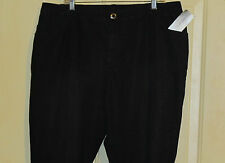 WOMENS ADDED DIMENSIONS BLACK SUBTLE LEOPARD SHIMMER 26W NWT STRETCH JEANS SOFT!