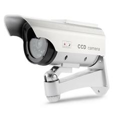 Factice Fausse Caméra Solaire LED Surveillance Sécurité CCTV Intérieur/Extérieur