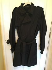 Men's Prada Nylon Trench/ Rain Coat Unlined Size 50 Italy Large US Mint Cond