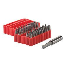 "33pce Screwdriver Screw Driver Bits Set Torx Pozi Hex Phillips 1"" Long"
