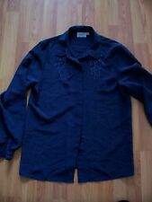 Slate grey long sleeve polyester blouse from Next, Size 10