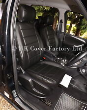 FORD GALAXY CAR SEAT COVERS- 7 SEATER- MADE TO MEASURE BLACK QUILTED LEATHERETTE
