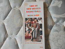 1984-85 NEW MEXICO LOBOS BASKETBALL MEDIA GUIDE Yearbook 1985 Program College AD