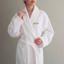 Personalised Embroidered Egyptian Cotton robes unisex Terry Towelling Bathrobes