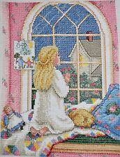 COMPLETED FINISHED CROSS STITCH, PAULA VAUGHAN, LITTLE PRINCESS