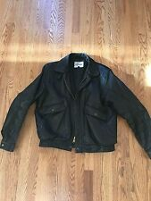 ROBERTO GELLINI Black Leather Jacket Men's 42 Coat Vintage 90's designer