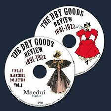 The Dry Goods Review Vintage Magazine Collection 34 PDF E-Books on 2 DVD Fashion