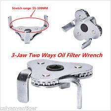 New Two Way Oil Filter Wrench Tool Drive 3-Jaw Remover 55-108mm Tool Car Trucks