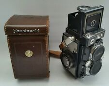 Vintage 1959 Yashica 44 LM COPAL-SV TLR Camera with Lens Cap & Leather Case