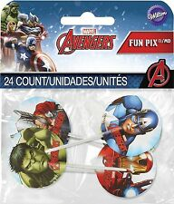 Avengers Fun Pix Cupcake Picks 24pcs Marvel Heroes Cake Toppers