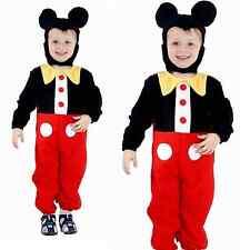 Bambino Mickey Mouse Bambino Fancy travestimenti Disney Costume Vestito Cappello Orecchie Cappello